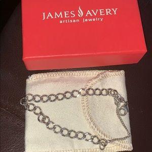 Retired James Avery charm bracelet w/ box & pouch